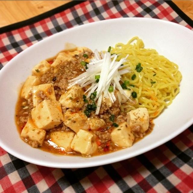 レトルト活用汁なし麻婆麺