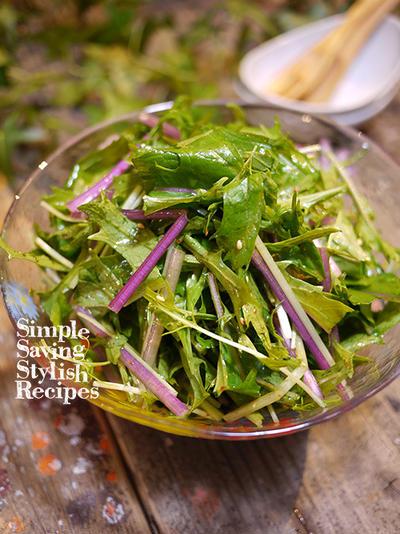 簡単ませるだけでササッと1品!なのに、お洒落で美味しい♪水菜のチョレギサラダ