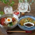 韓国冷麺とニラのチヂミ