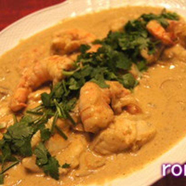 エビとタラのココナツミルク煮、カレー風味 と足の裏