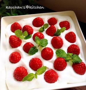 ストロベリー♡スコップケーキ