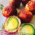 【お弁当に】コロコロ芽キャベツの肉巻き