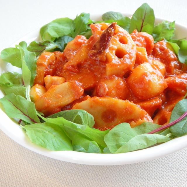 根菜のアラビアータ&豚肉とブロッコリーのマスタードソース