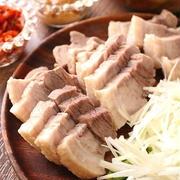 蒸し豚と味噌の野菜包みポッサム風(オススメです!)