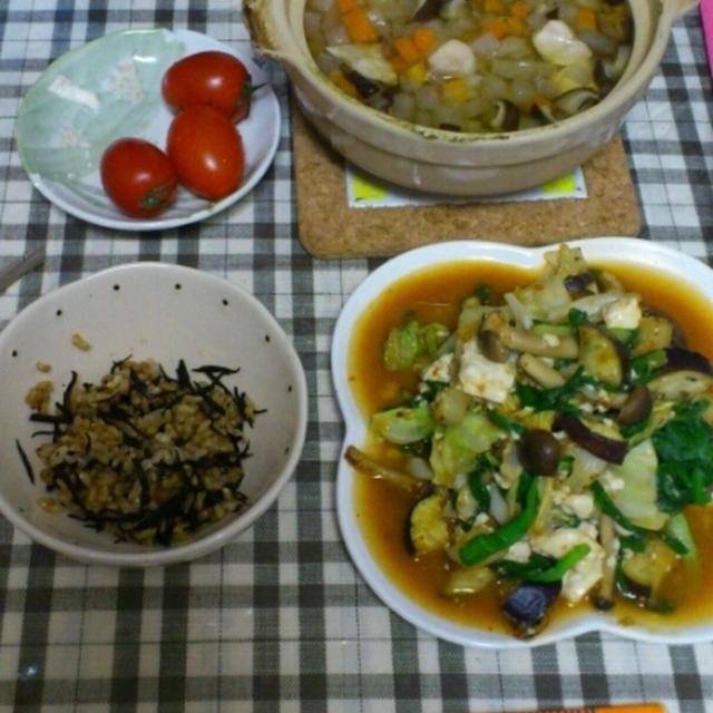 昨日の夕飯(回鍋肉etc)