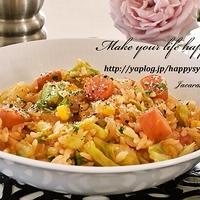 春野菜とウインナーのトマトリゾット