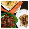 昨日の夕ご飯☆ポテグラ、塩麹唐揚げ、ごぼうチップス
