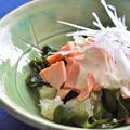 文旦(ぶんたん) ☆  魚と海藻のサラダ、皮の砂糖菓子