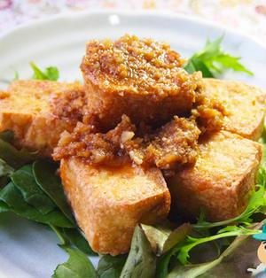 揚げ豆腐の怪味ソースの巻