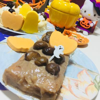 カスタードマロンケーキ♡