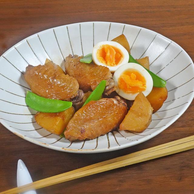 あると便利な作り置きおかず ほろほろ鶏手羽先と新じゃがの煮物