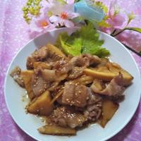 お料理レシピ★豚肉と筍の金平★