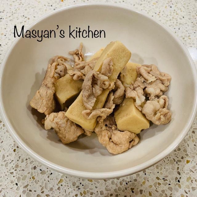 高野豆腐と豚肉の炒め煮