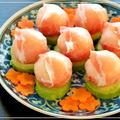 勝手にコラボ?「生ハムの手まり寿司」