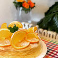 オレンジ香るふんわりシュワシュワのスフレチーズケーキできました!!