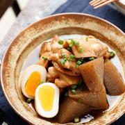 鶏肉とこんにゃくの甘辛煮【#作り置き #お弁当 #煮るだけ #味しみ #主菜】