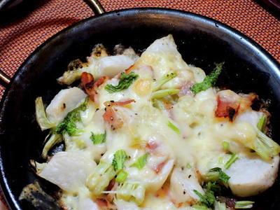 超簡単料理、蕪とベーコンのチーズ焼き~♡
