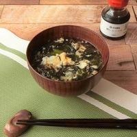 鱈しょっつるで海藻たっぷりスープ