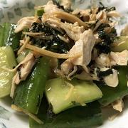 大きなキュウリでたたきキュウリの中華風サラダ♪