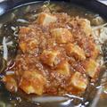 もずく酢入り☆酸辣湯風マーボーとろみ麺