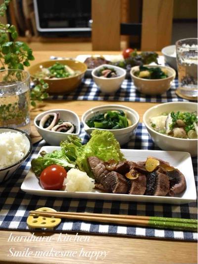 【レシピ】豚肉と豆腐のねぎ塩スープ✳︎寒い日に疲労回復に✳︎簡単✳︎マグロステーキの献立。