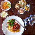 ナツメグ入りオムレツと、ビーンズトマト セボリーとパプリカ風味 * スパイス大使 by YUKIさん