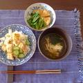穴子ちらし寿司と汁物