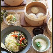 青椒肉絲ライス!と、ねぎあん豆腐!で、おうち中華♪