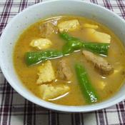 豆腐と豚肉のインド風カレー