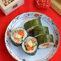 恵方巻きに♪韓国風のりまきレシピと巻き方と巻きずしレシピ2品と茶碗蒸し