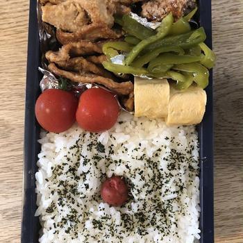 今週の作り置き弁当~生姜焼きとハンバーグ~