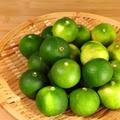 徳島産のすだちを鳴門の塩で塩すだちに➖と、すだちシロップと、冷蔵庫で出番を待つ栗➖の3本です。
