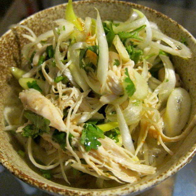 たっぷりの葱が旨い!鶏と長葱、香菜のフォー