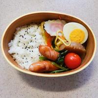 小松菜とウインナーのバターコンソメ炒め☆のお弁当