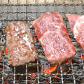 秋田県産黒毛牛モモかたまり(交雑種)の炭火焼