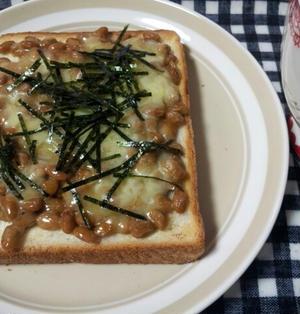 朝ごはんに!かつ海苔納豆トースト