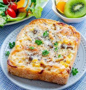 食パンでお手軽♪キッシュ風トースト(*゚▽゚*)