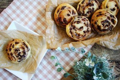 【簡単!】袋でモミモミ♪うずまきチョコチップパン
