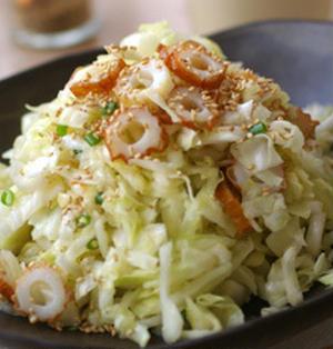 キャベツとちくわの中華サラダ
