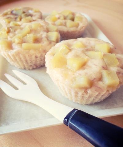 レシピ : 米粉バナナ蒸しパン