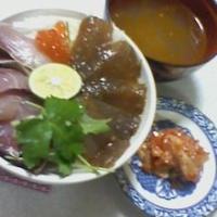 ぶりの刺身とマグロづけ丼のれしぴ