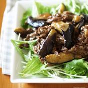 牛肉とナスのガラムマサラ炒め