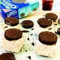 オレオミントクリームを使い♪濃厚チーズアイスケーキ♡