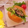 牡蠣のオイル漬け&アスパラガスでロールパンサンド by MOMONAOさん