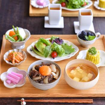 牛丼の朝ごはん ✻ 影響を受けやすい性格。