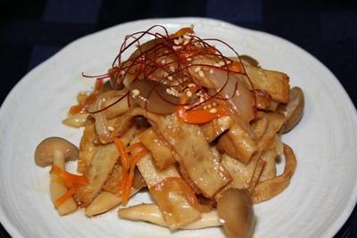 オデンボクム(오뎅볶음)  --  韓国人が好きな韓国さつま揚げの炒め物