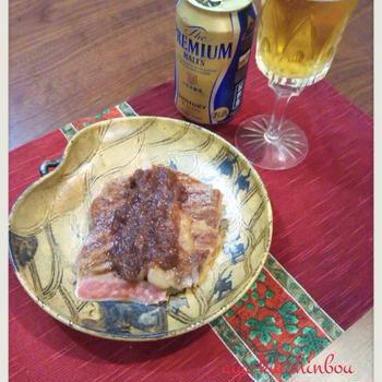 プレモルで乾杯!夫のお誕生日。と絶品ステーキソース♡