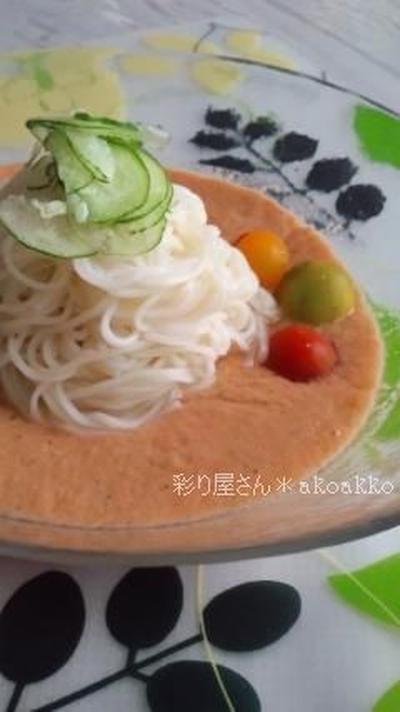 ガスパチョ素麺