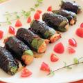 簡単メイン!鶏むね肉の小松菜海苔ロール