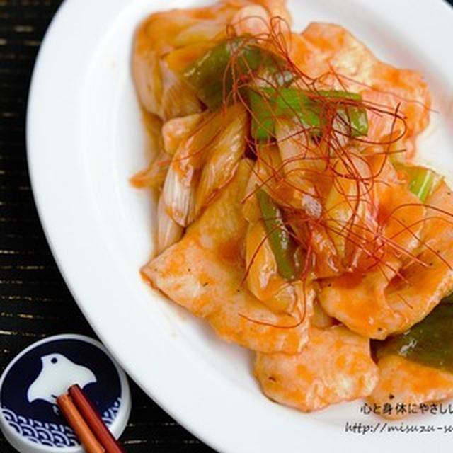 【作りおき・筋肉レシピ】しっとりやわらか〜い、酸味を抑えた鶏むね肉のやさしい甘酢煮